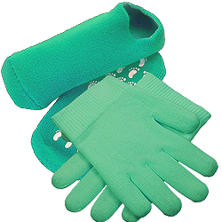 moisturizing booties and gloves